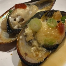 Baked Green Mussels